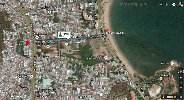 Расположение квартирного комплекса vinh hai