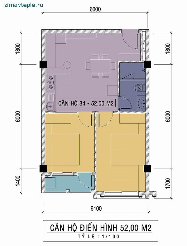 Планеровка квартиры с двумя спальнями