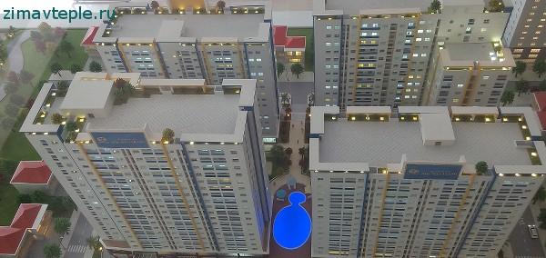 Макет зданий HQ plaza