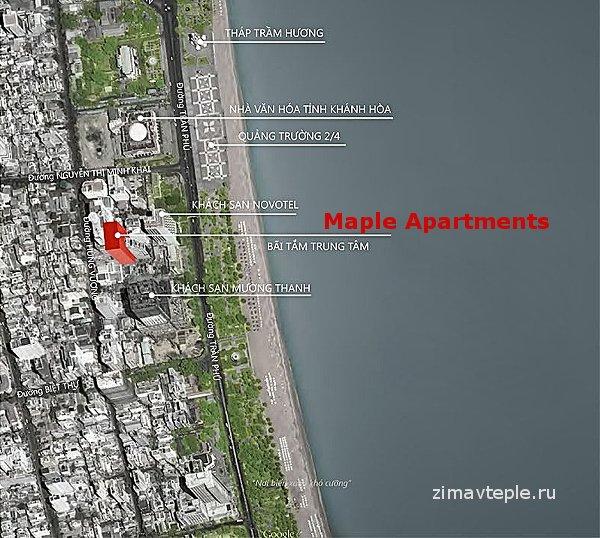 Расположение Мапле