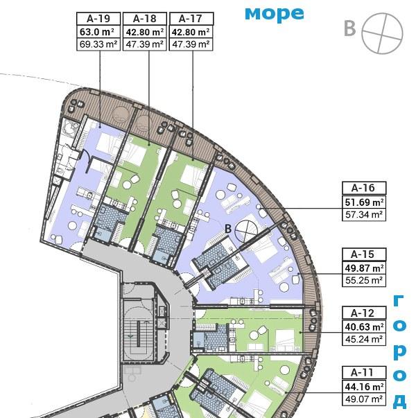 План квартир в Панораме