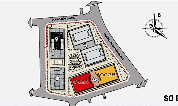Расположение башен С1 и С2