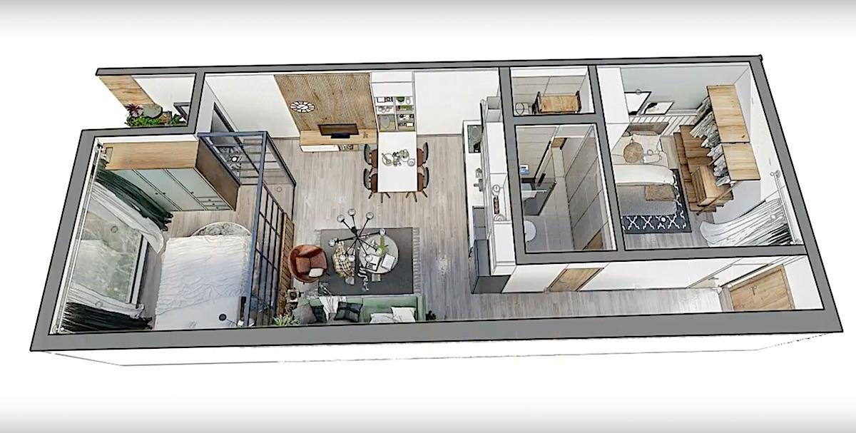 План квартиры в новостройке Napoleon Castle Nha Trang